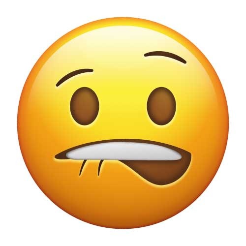Image result for emoji chewing on lip