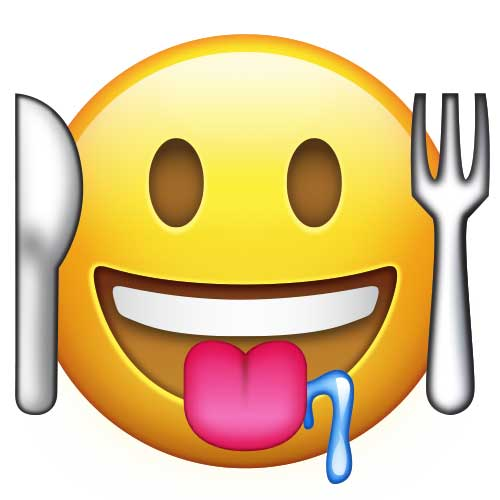 Hungry Emoticon Flat Design Stock Vector 613775567 - Shutterstock