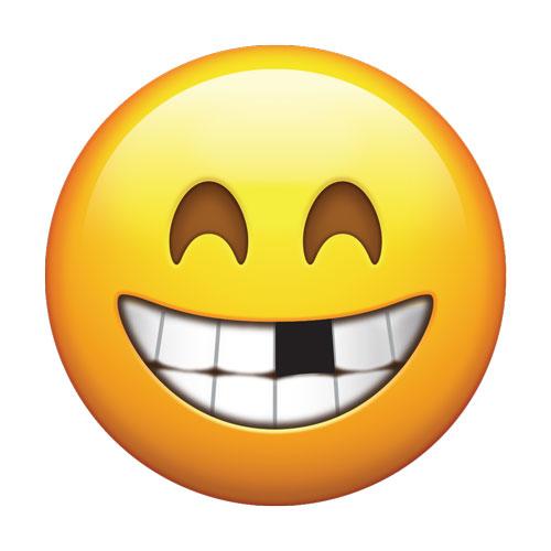 Резултат с изображение за smile without teeth emoji