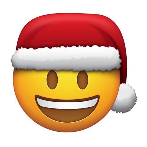 Santa hat emoji world